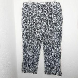 Chico's crop herringbone pattern pants
